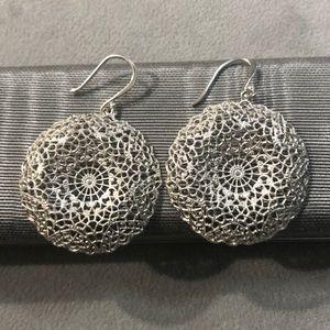 Stella & Dot silver earrings.